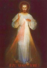 Obraz Miłosierdzia Bożego - pierwotna wersja